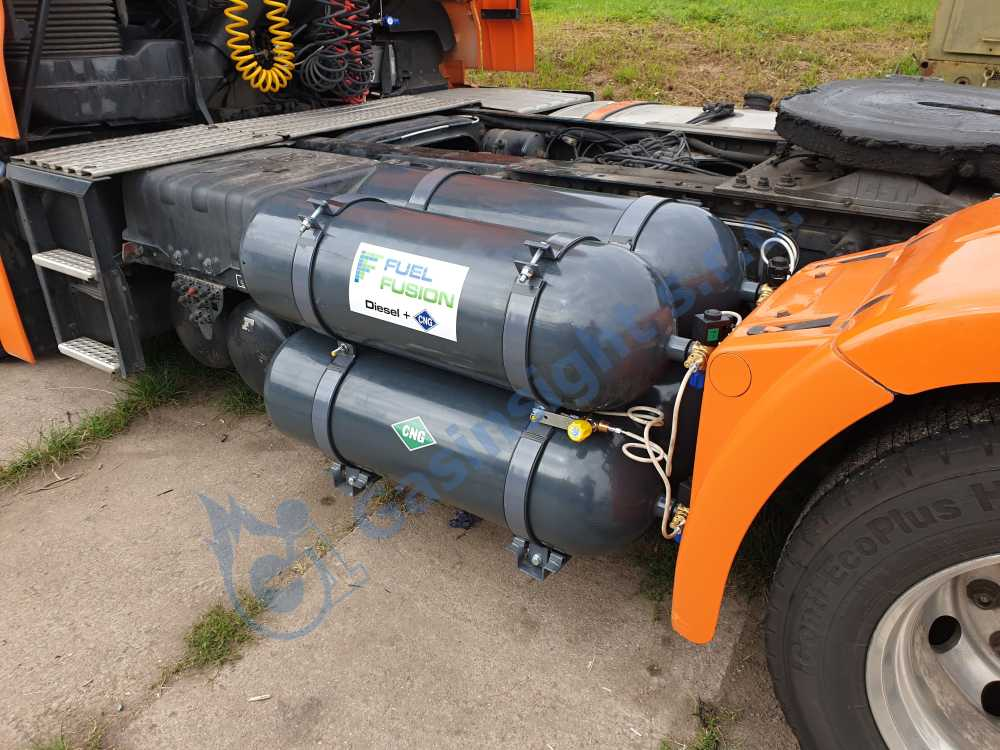 montáž diesel CNG duálního pohonu do tahače návěsů MAN TGX Euro 6